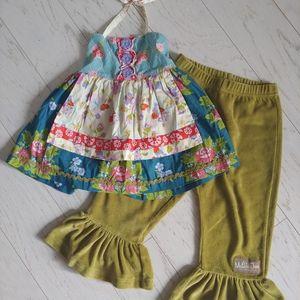 Matilda Jane knot top & big ruffles pants